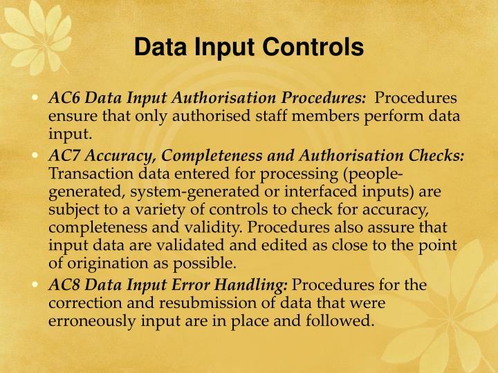 Data Input Controls