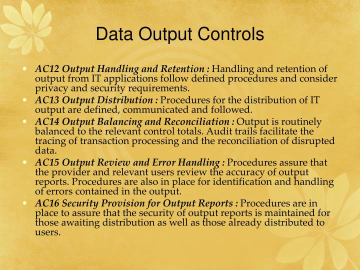 Data Output Controls
