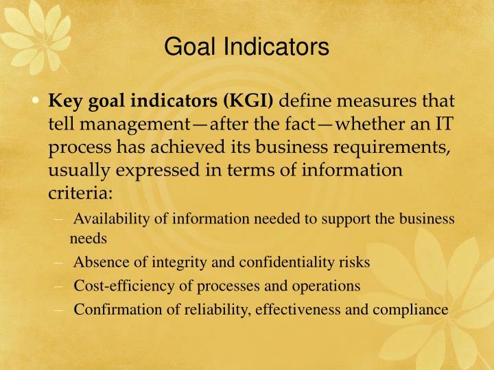 Goal Indicators