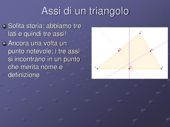 Assi di un triangolo