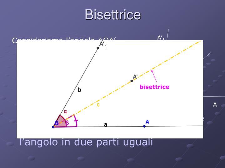 Bisettrice