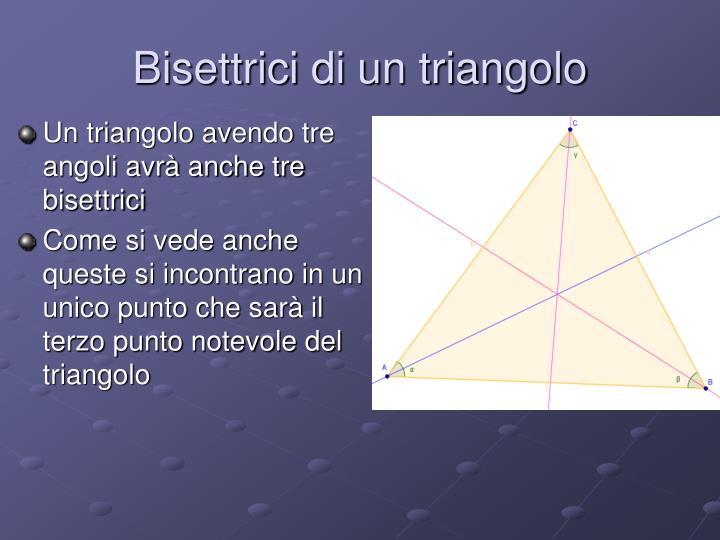 Bisettrici di un triangolo