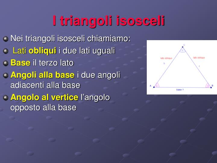 I triangoli isosceli