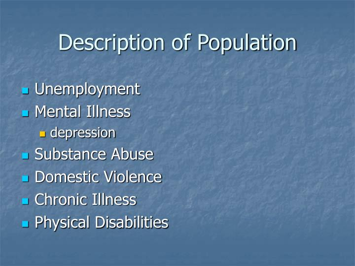 Description of Population