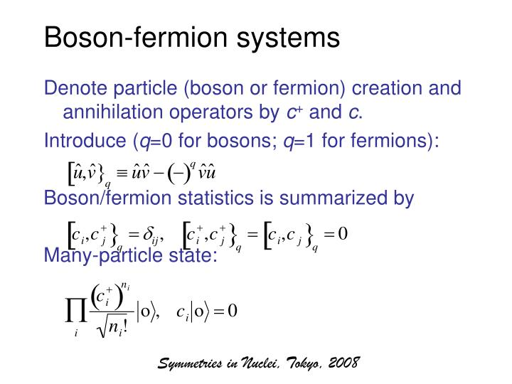 Boson-fermion systems