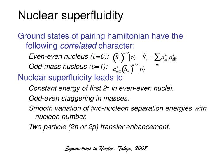 Nuclear superfluidity