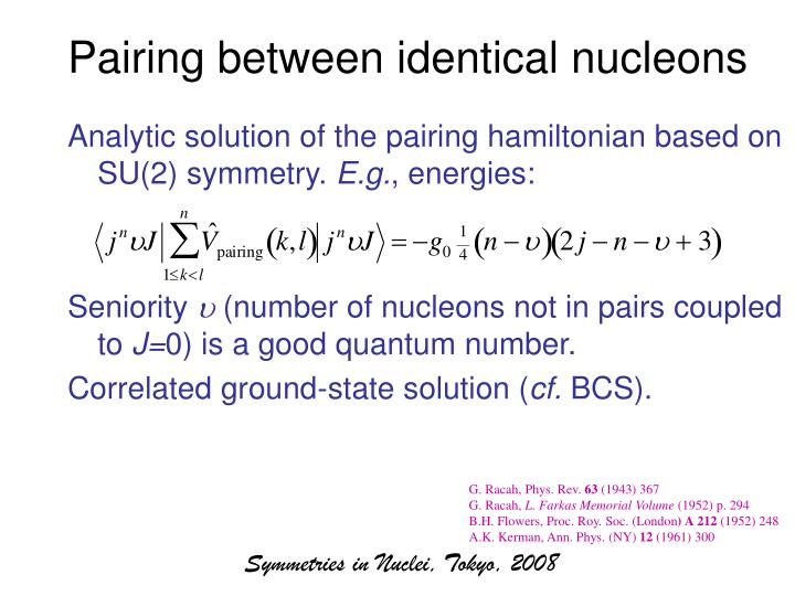 Pairing between identical nucleons