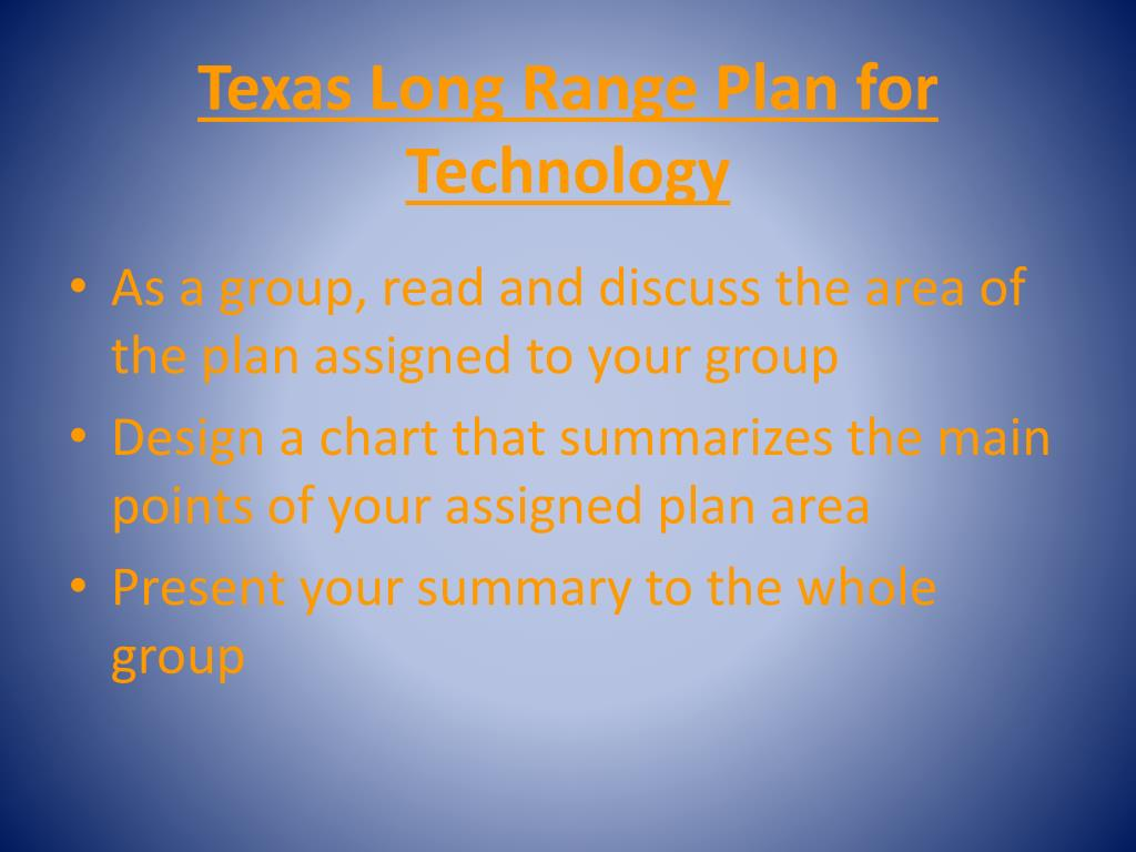 Texas Long Range Plan for Technology