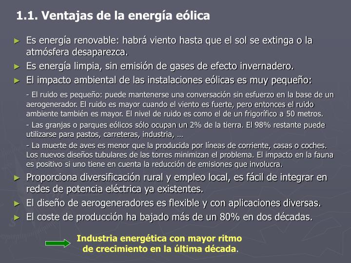 Industria energética con mayor ritmo