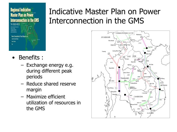 Indicative Master Plan on Power Interconnection in the GMS