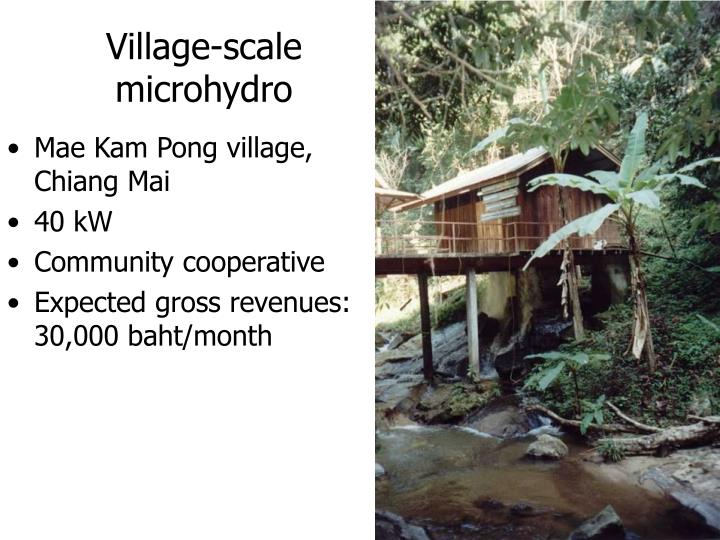 Village-scale microhydro