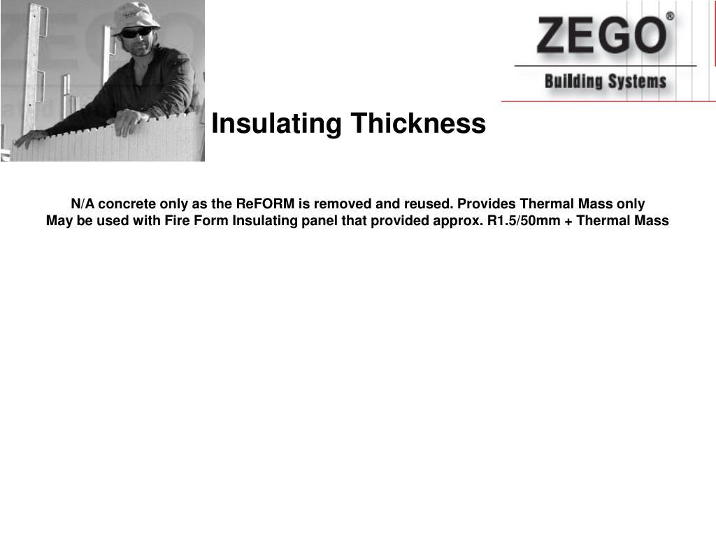 Insulating Thickness