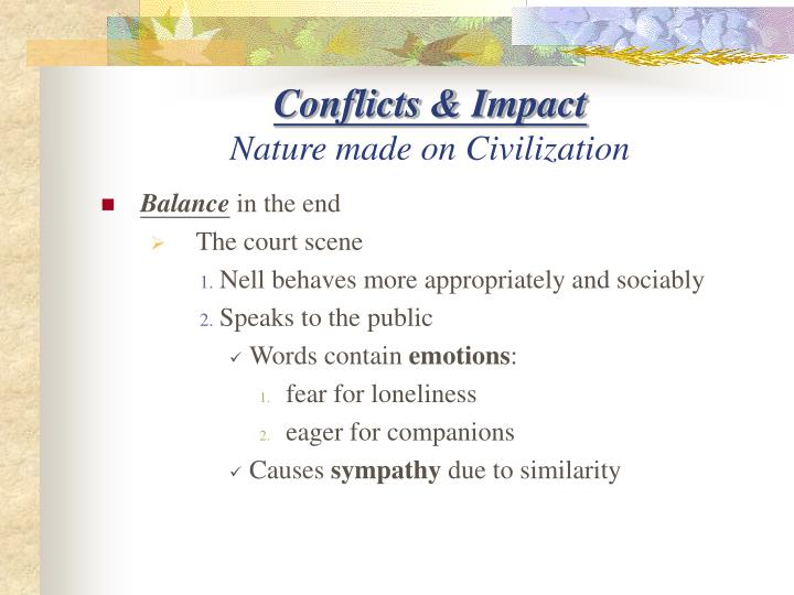 Conflicts & Impact