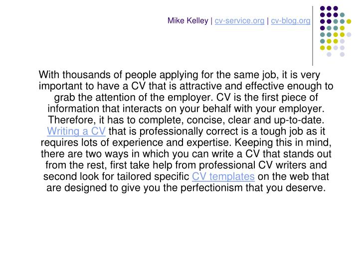 Mike kelley cv service org cv blog org