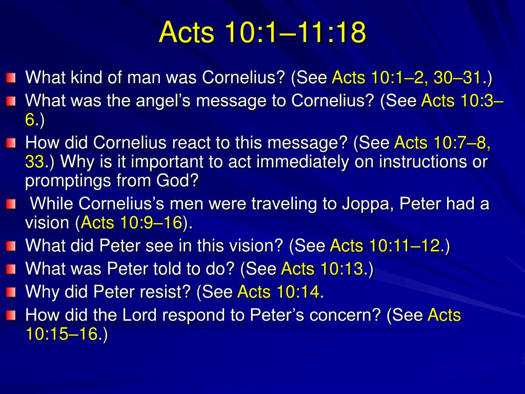 Acts 10:1–11:18