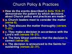 church policy practices