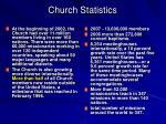 church statistics