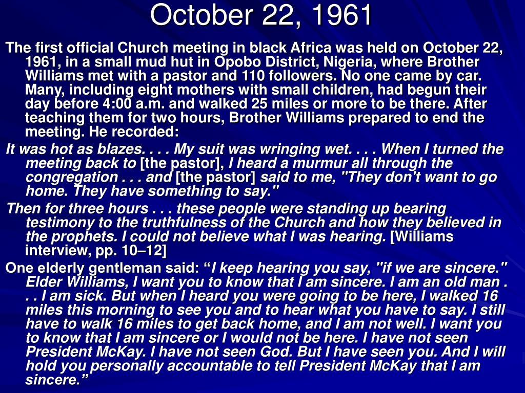 October 22, 1961