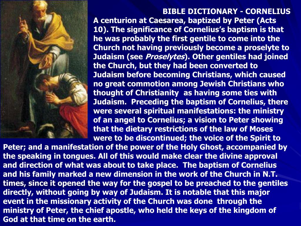 BIBLE DICTIONARY - CORNELIUS