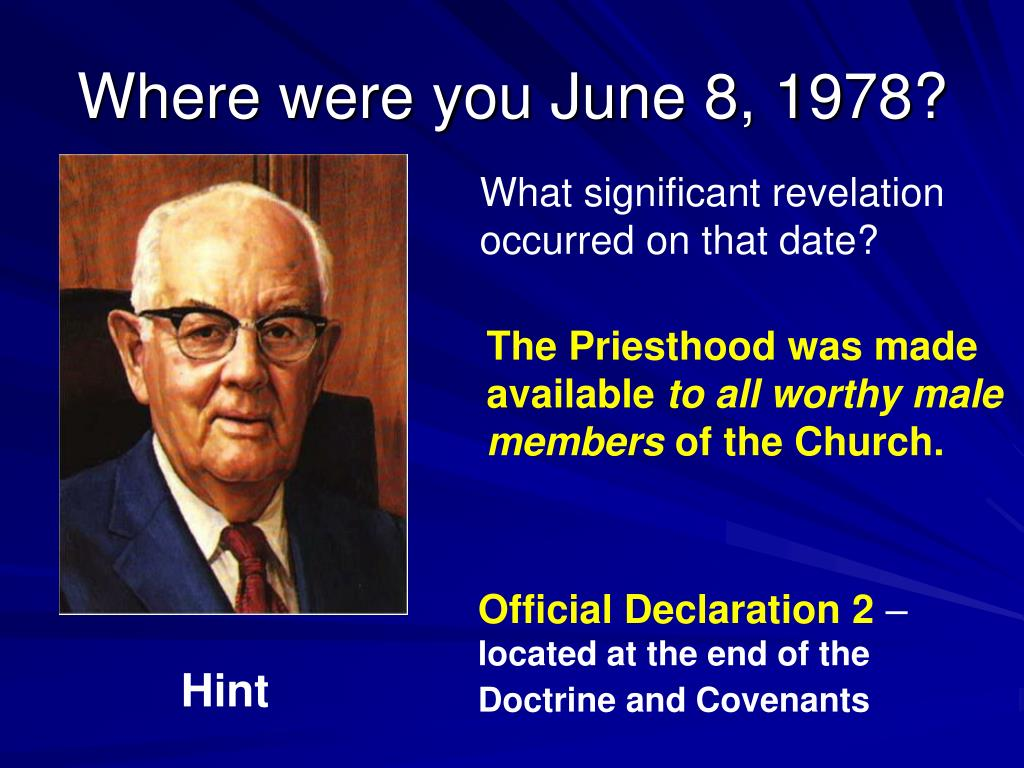 Where were you June 8, 1978?