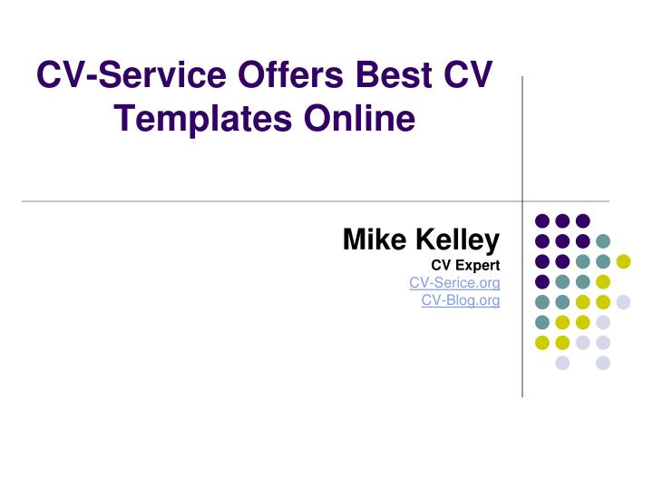 Cv service offers best cv templates online