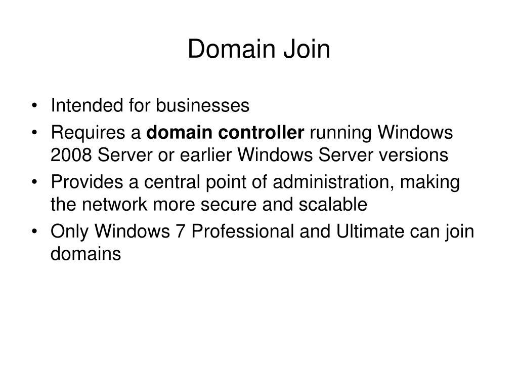 Domain Join