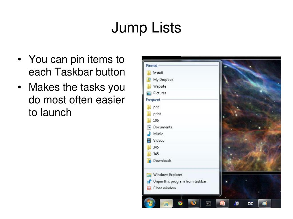 Jump Lists