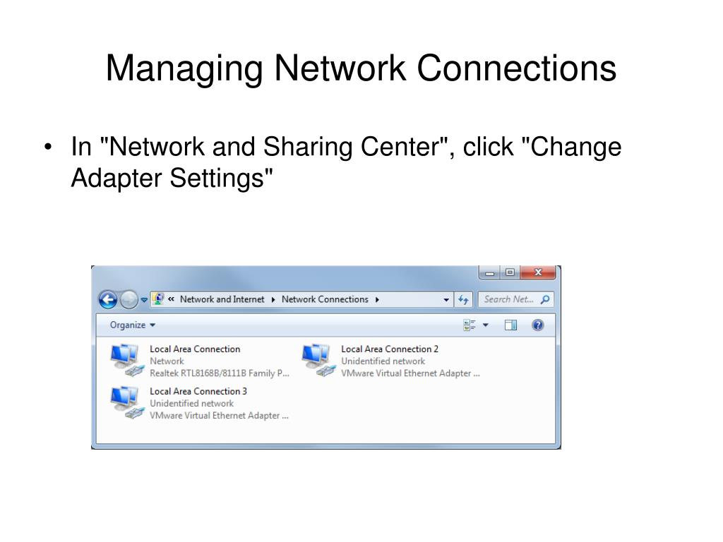 Managing Network Connections