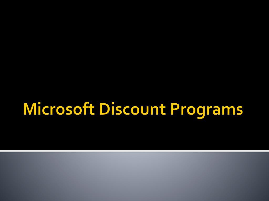 Microsoft Discount Programs