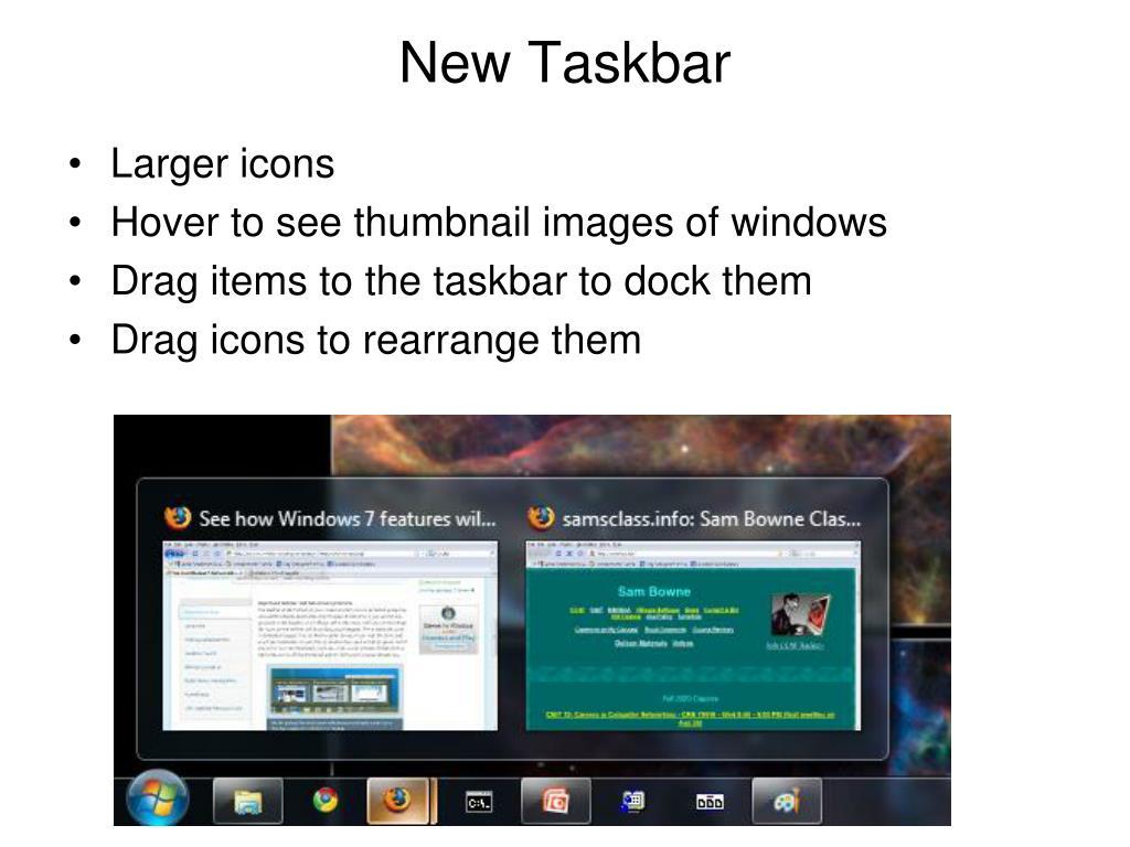 New Taskbar