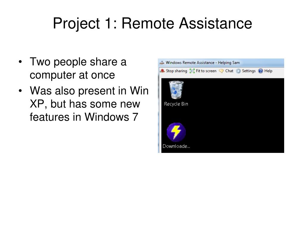 Project 1: Remote Assistance