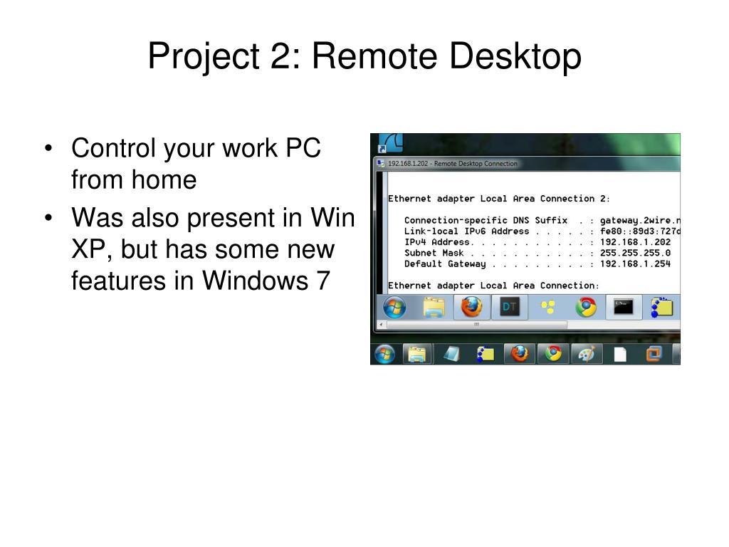 Project 2: Remote Desktop