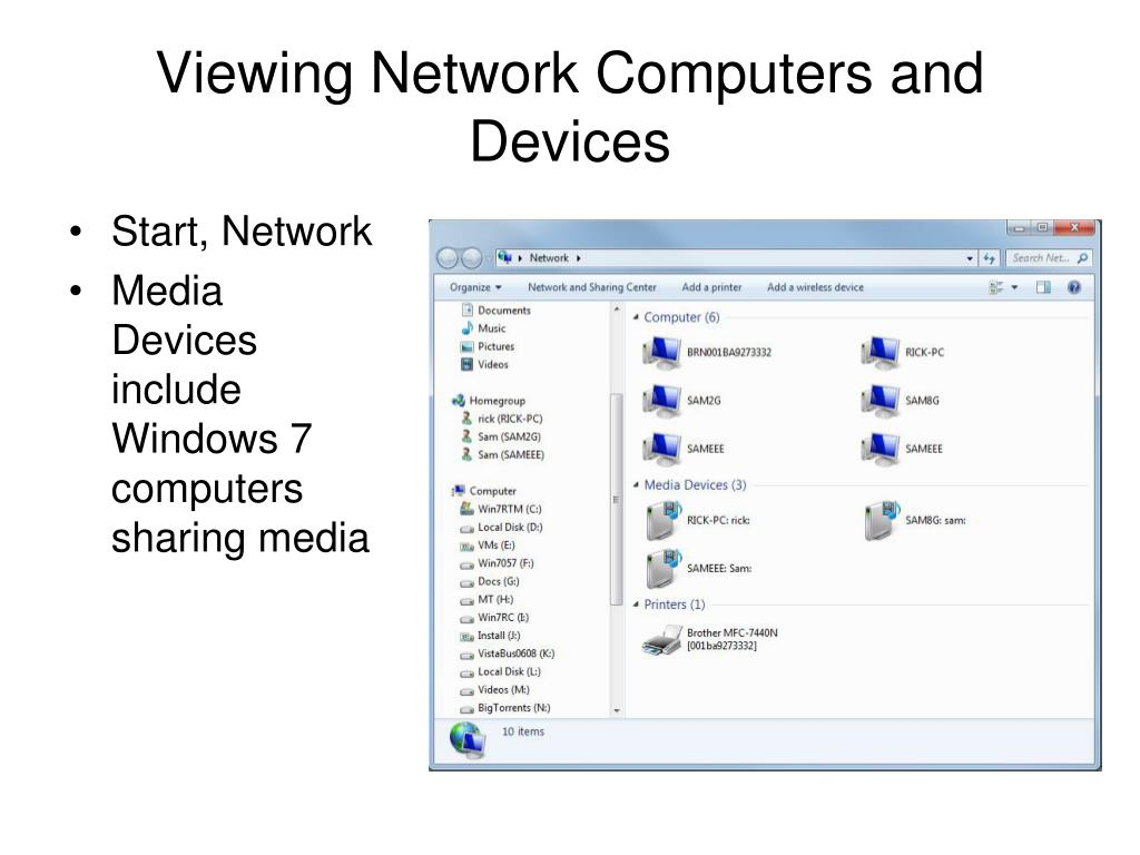 Viewing Network Computers and Devices