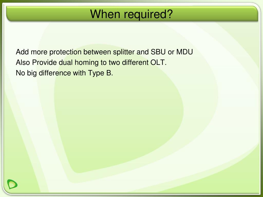 Add more protection between splitter and SBU or MDU