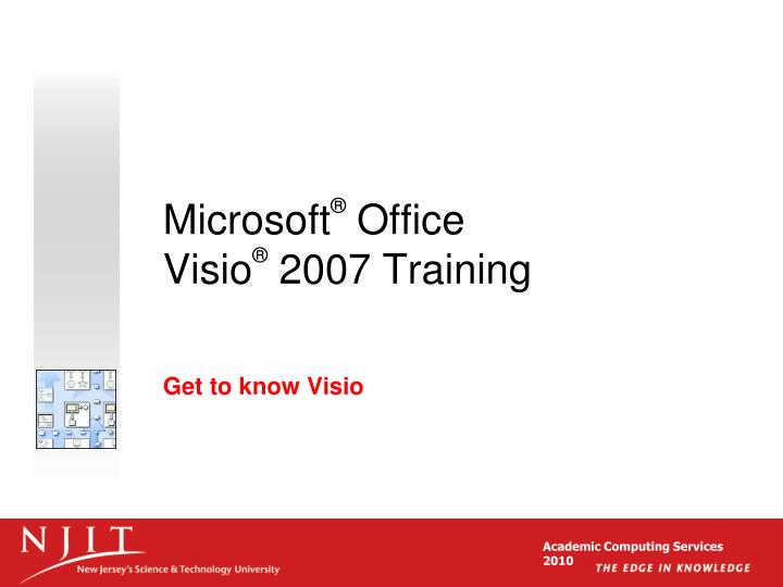 Microsoft office visio 2007 training