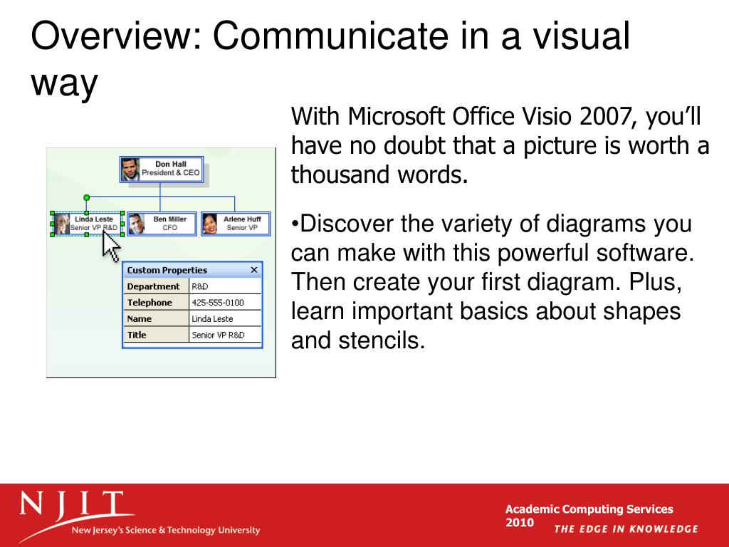 Overview: Communicate in a visual way