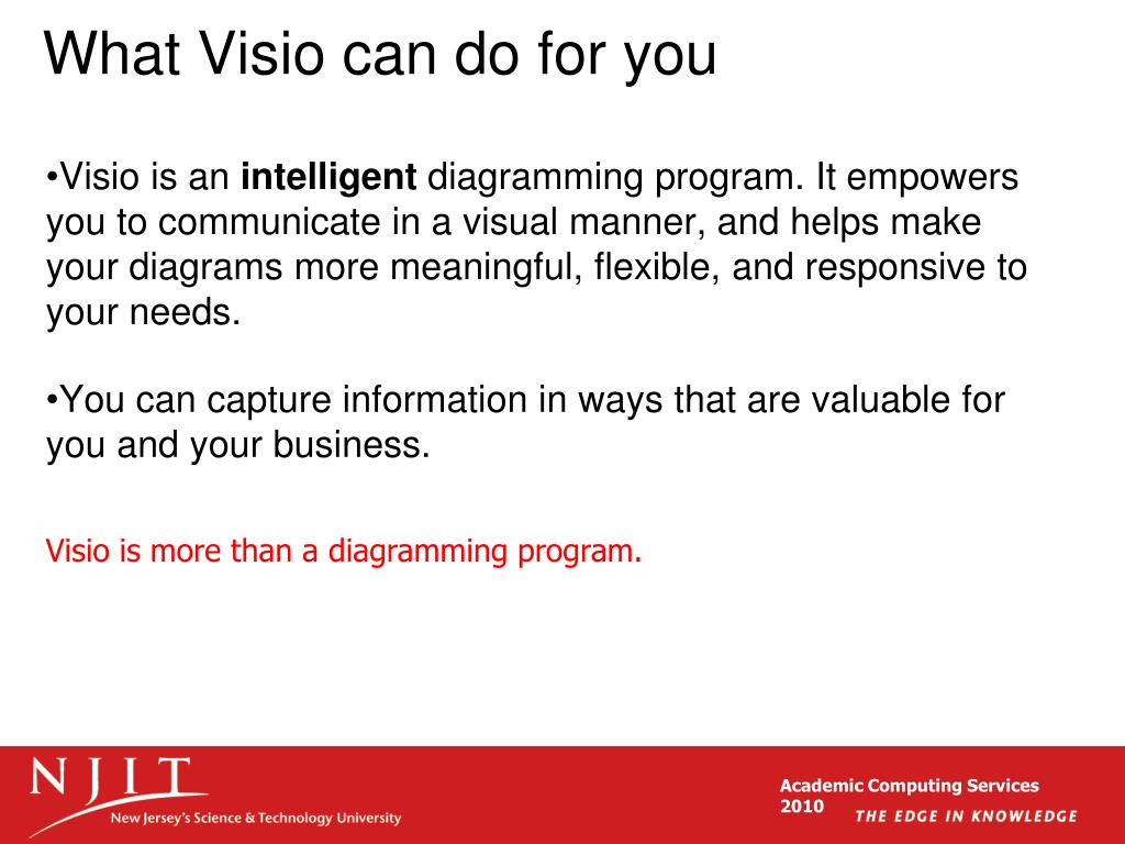 What Visio can do for you