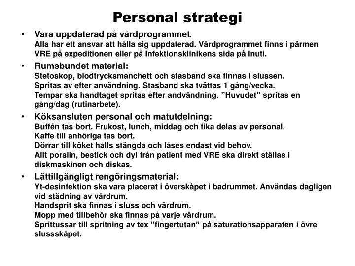 Personal strategi