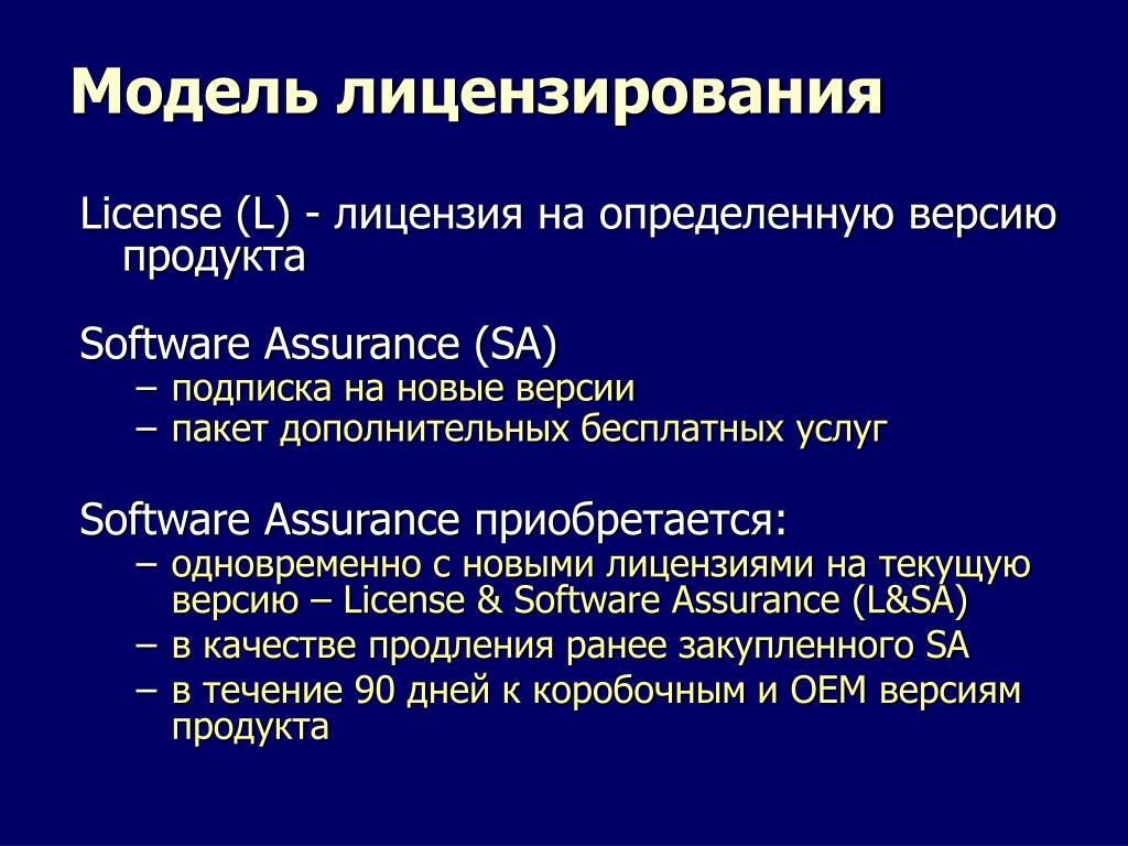 Модель лицензирования