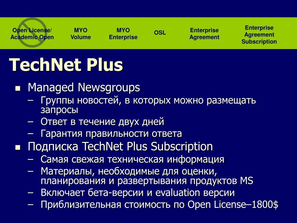 Enterprise Agreement Subscription
