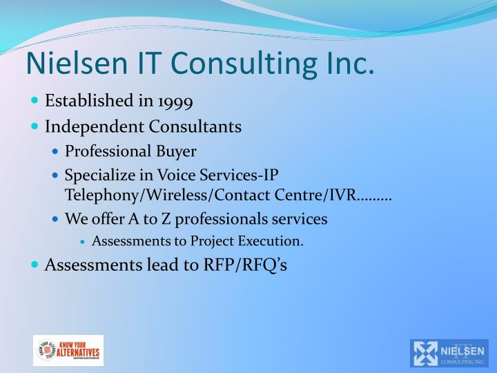 Nielsen it consulting inc