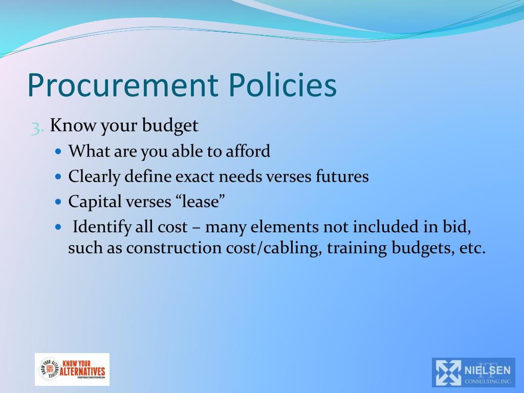 Procurement Policies