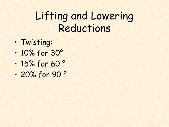 Lifting and Lowering Reductions