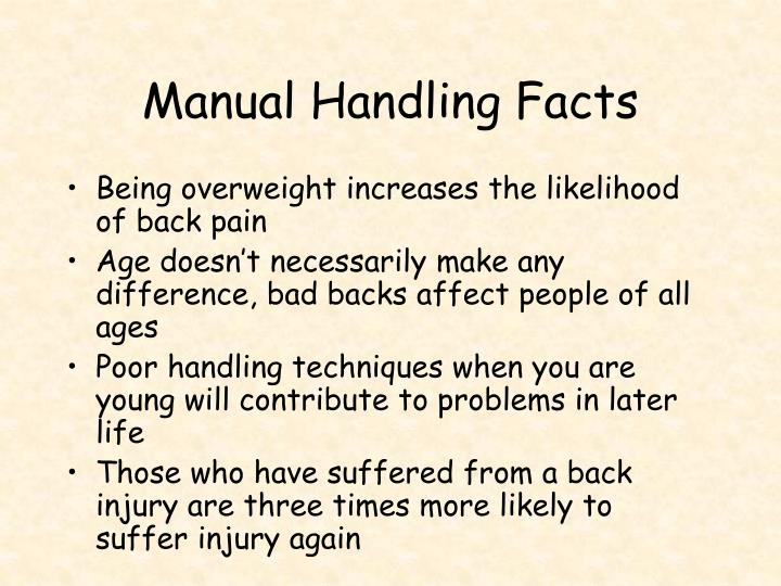 Manual Handling Facts
