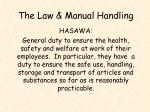the law manual handling1