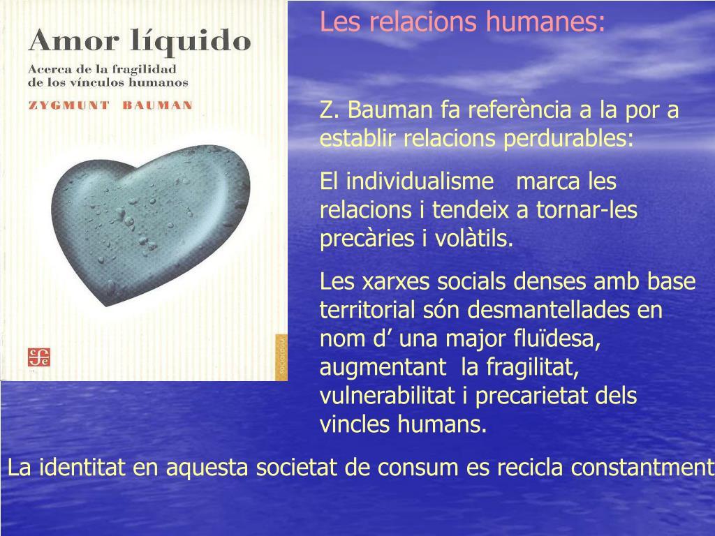 Les relacions humanes: