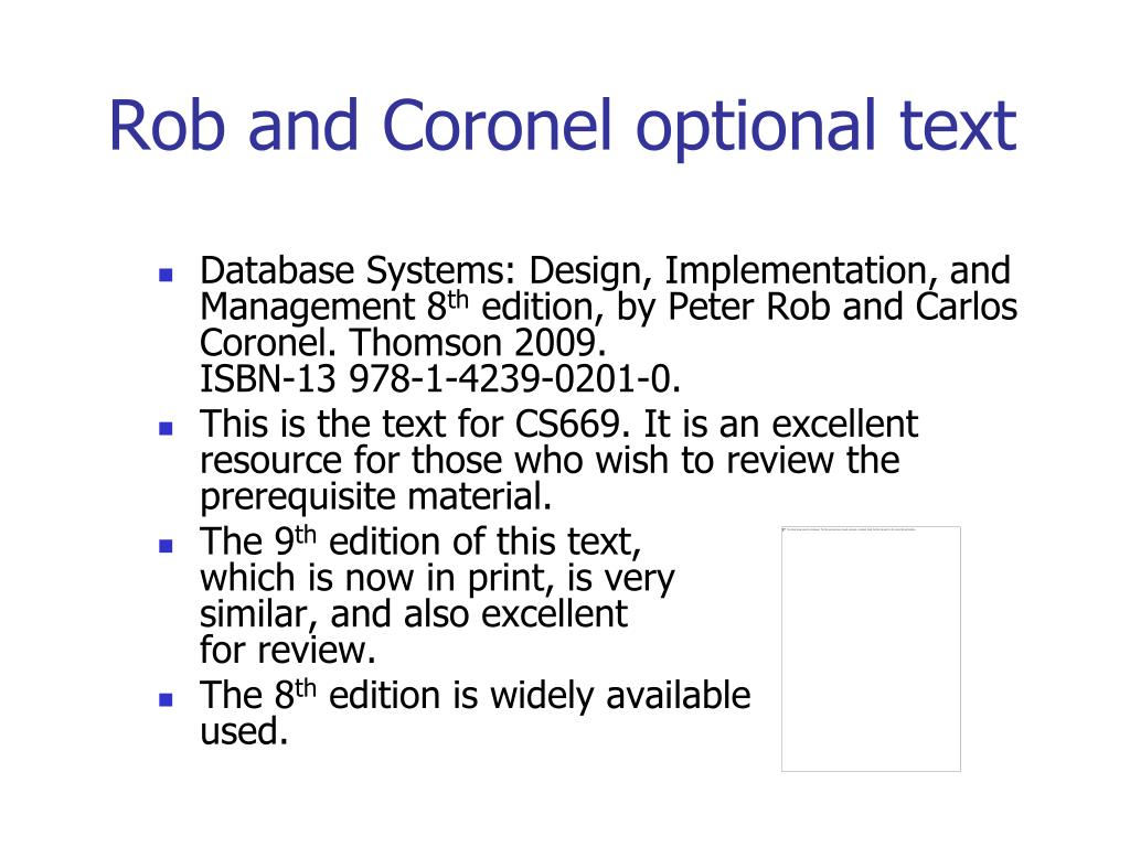Rob and Coronel optional text