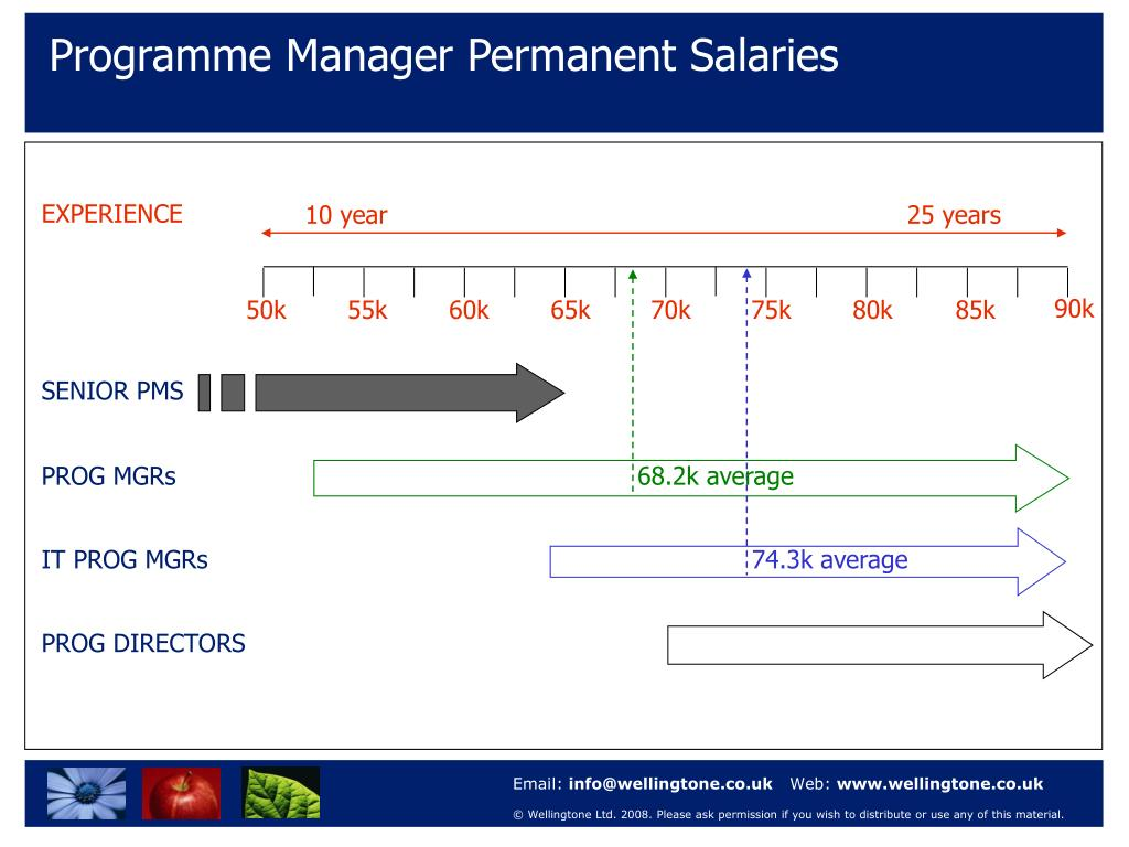 Programme Manager Permanent Salaries