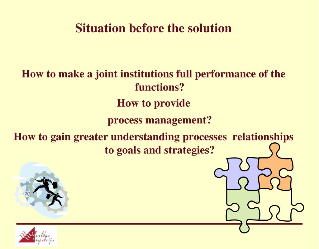 Situation before the solution