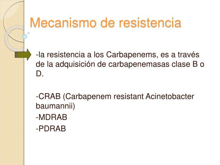 Mecanismo de resistencia